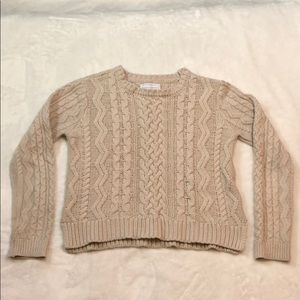 Kendall + Kylie Cable Knit Sweater